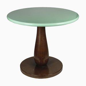 Tavolino da caffè rotondo in legno, Italia, anni '60