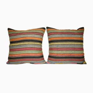 Stripy Wool Kilim Pillow Covers from Vintage Pillow Store Contemporary, Set of 2