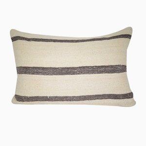 Housse de Coussin Lumbar Artisanale à Rayures de Vintage Pillow Store Contemporary, Turquie