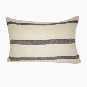 Turkish Hand-Made Striped Lumbar Pillow Cover from Vintage Pillow Store Contemporary