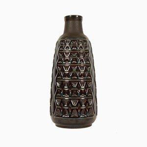 Grand Vase en Céramique Émaillée Bleue par Einar Johansen pour Søholm, Danemark, 1960s