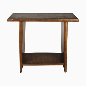 Italian Art Deco Walnut and Veneer Console Table, 1920s