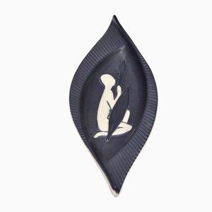 Dänische Mid-Century Schale von Svend Aage Holm Sørensen für Søholm, 1950er