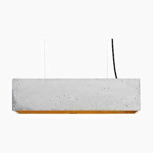 B4 Concrete & Gold Plated Rectangular Ceiling Lamp by Stefan Gant for GANTlights