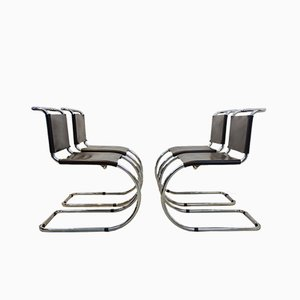 Chocolate Brown MR10 Cantilever Chairs by Ludwig Mies van der Rohe, 1960s, Set of 4