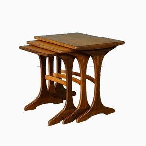 Tavolini ad incastro in afrormosia di V.B. Wilkins per G-Plan, anni '60