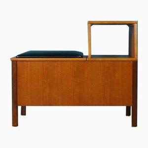 Banc/Table de Téléphone Mid-Century avec Espace de Rangement, 1960s