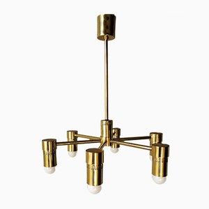Italian Brass Chandelier, 1970s