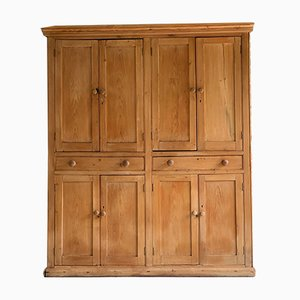 Antique Victorian Pine Cupboard, 1890s