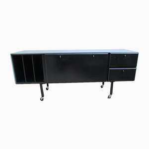 German Black Sideboard, 1980s