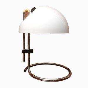 Lámpara de mesa modelo 4026 vintage articulada de acero cromado de Carlo Santi para Kartell, años 60