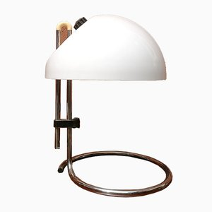 Lampe de Bureau Articulée Modèle 4026 Vintage en Acier Chromé par Carlo Santi pour Kartell, 1960s