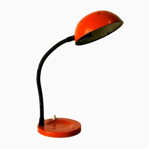 Orangefarbene Flexo Lampe, 1960er