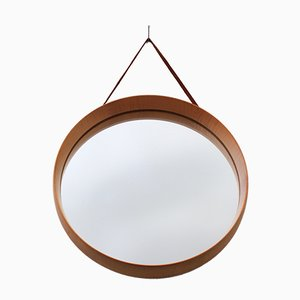 Vintage Birch Wall Mirror by Uno & Östen Kristiansson for Luxus, 1960s
