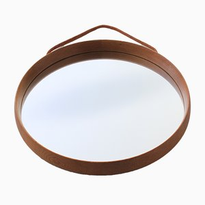 Scandinavian Modern Oak Wall Mirror by Uno & Östen Kristiansson for Luxus, 1960s