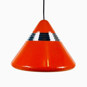 Red Cone Pendant Lamp by Kazuo Motozawa for Staff, 1970s