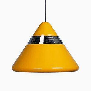 Lampada gialla conica di Kazuo Motozawa per Staff, anni '70
