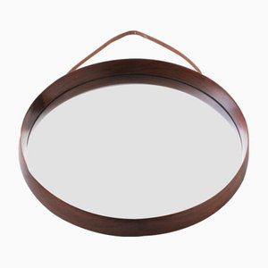 Scandinavian Modern Rosewood Wall Mirror by Uno & Östen Kristiansson for Luxus, 1960s