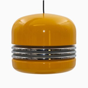 Yellow Pendant Lamp by Kazuo Motozawa for Staff, 1970s