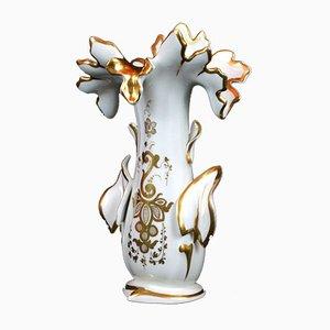 Schlesiche Vase von Karl Krister Porzellanmanufaktur, 19. Jh.