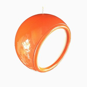 Lampe à Suspension Pallade Orange par Studio Tetrarch pour Artemide, 1960s