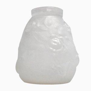 Vase Vintage en Verre Pressé Opalescent, 1930s