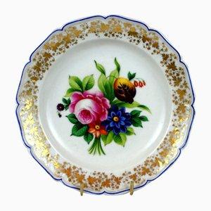 Antique Hand Painted Porcelain Plate from Karl Krister Porzellanmanufaktur