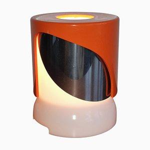 Lampada da tavolo KD24 arancione di Joe Colombo per Kartell, 1966