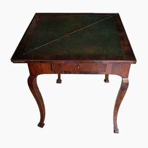 Mesa de juegos francesa antigua de palisandro