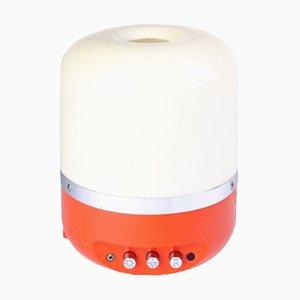 Orangefarbene Radio Lampe von Adriano Rampoldi für Europhon, 1970er