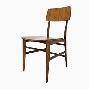 Sedia da scrivania vintage in legno, Scandinavia, anni '60