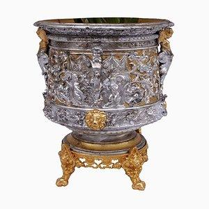 Pflanzer aus Terrakotta & vergoldeter Bronze, 19. Jh.