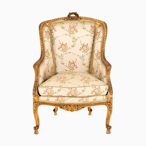 Antique Giltwood Lounge Chair, 1880s