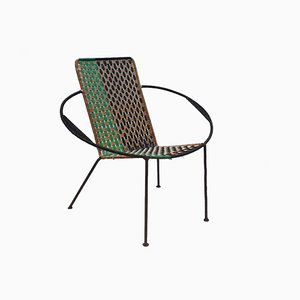 Black, Beige, and Green Armchair, 1960s