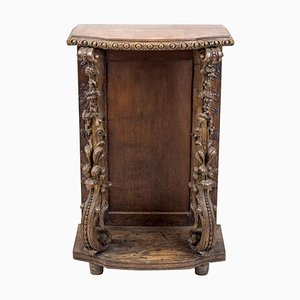 Antique Oak Console Stand