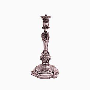 Antike versilberte Louis XV Tischlampe von Christofle