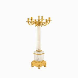 Antique Charles X Style Crystal Table Lamp