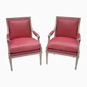 Antique Louis XVI Armchairs, 1900s, Set of 2
