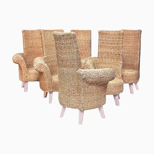 Braided Rope Garden Chairs, 1960s, Set of 6