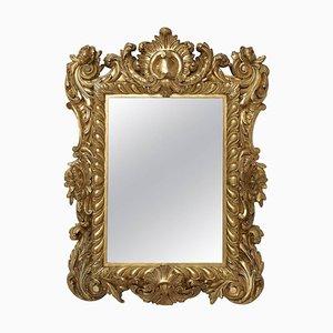 Espejo Regency antiguo pequeño de madera dorada, década de 1880