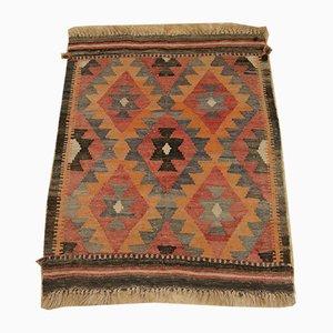 Handgewebter Vintage Kelim Teppich mit geometrischem Muster, 1950er