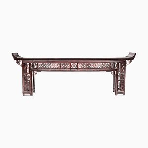 Antique Chinese Lacquered Bamboo Console Table