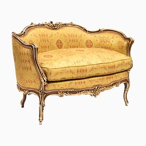Antique Rococo Gilt Walnut Sofa
