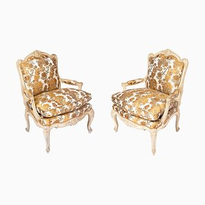 Lacquered Armchairs, 1950s, Set of 2
