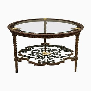 Italian Wrought Iron Coffee Table, 1950s