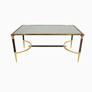 Mesa de centro de metal dorado de Maison Jansen, años 70