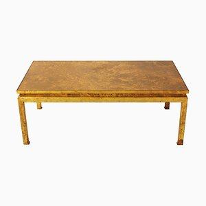 Mesa de centro de hierro dorado, años 70