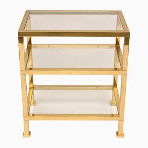 Gilt Bronze and Glass Side Table by Guy Lefevre, 1970s