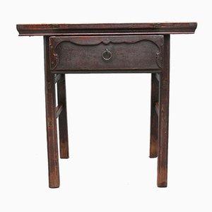 Mesa auxiliar china de olmo, siglo XIX