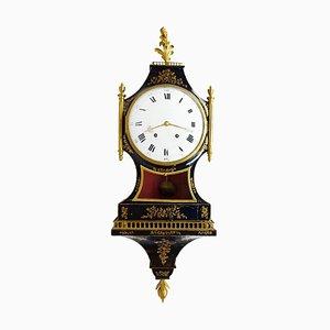Reloj Cartel antiguo de madera lacada de Neuchâtel